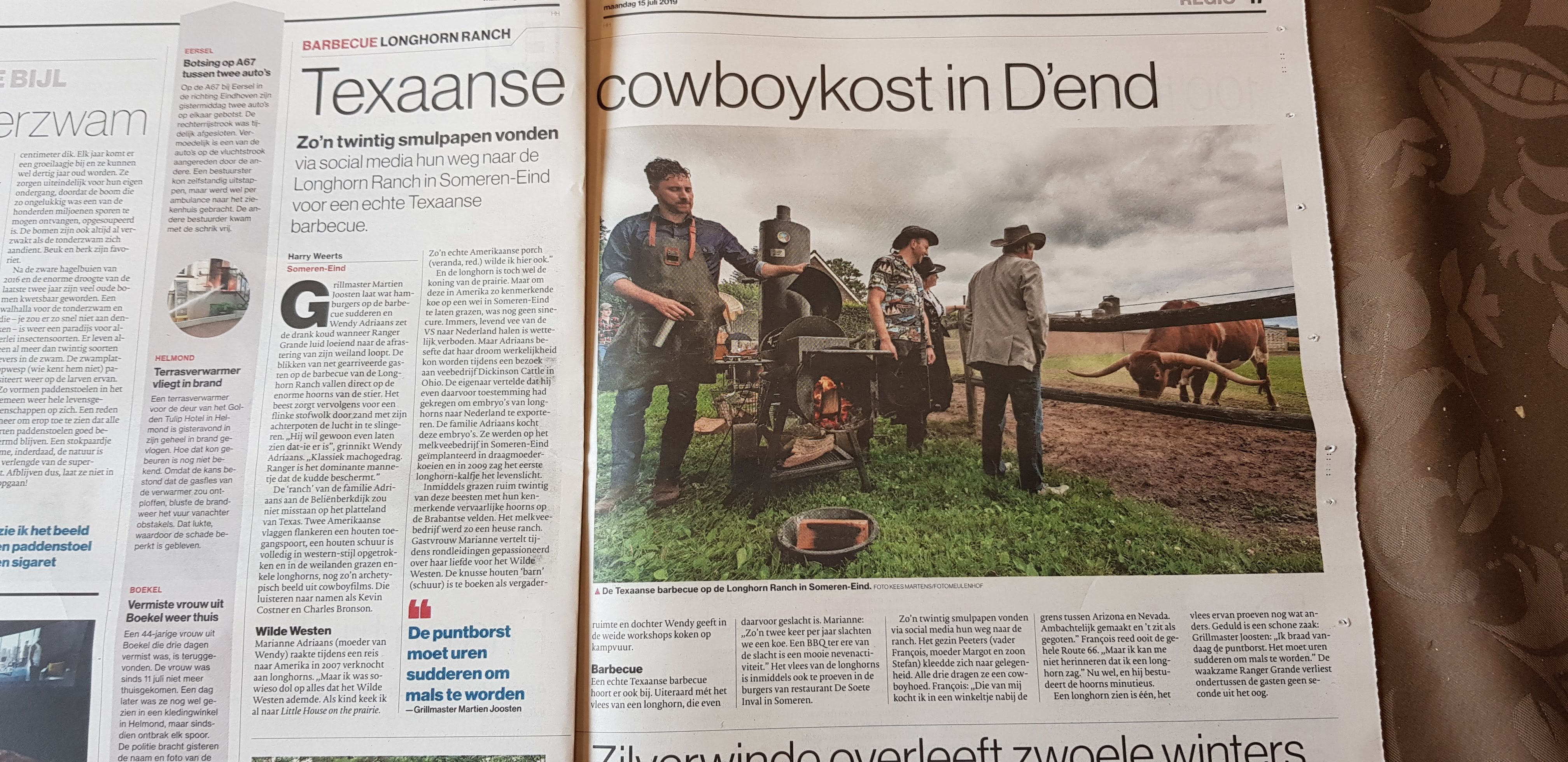 Artikel ED Texaanse cowboykost in D'end
