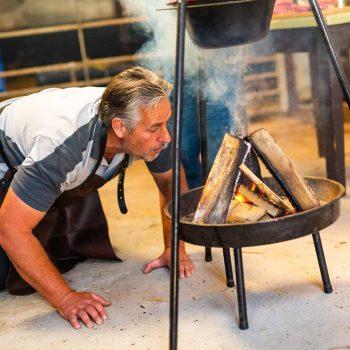 koken o kamvuur, vuur maken